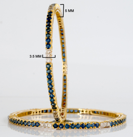 bar sapphire and yogo bangles jewelry miller set category in s bracelet gold of bozeman bezel montana white mt bracelets tennis diamond
